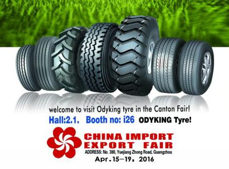 welcome to visit Odyking tyre in the Canton Fair!
